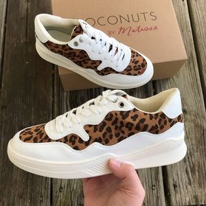 NEW Chunky Dad Leopard Print Sneakers Womens Shoes